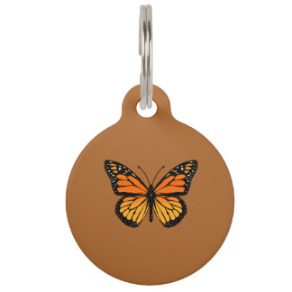 Monarch Butterfly on Sienna Pet Name Tag