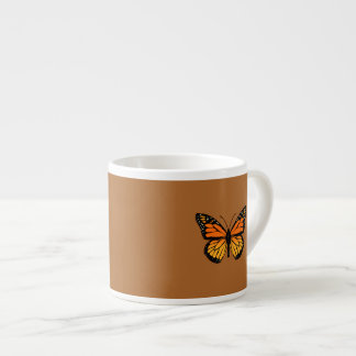 Monarch Butterfly on Sienna Espresso Cup