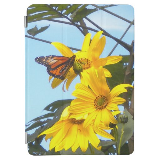 Monarch Butterfly On Sunflowers iPad Air Cover