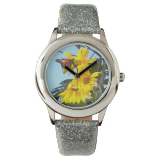 Monarch Butterfly on Sunflowers Watches