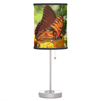 Monarch Butterfly on Wildflowers, lampshade