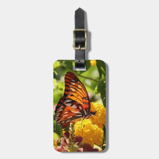 Monarch Butterfly on Wildflowers, luggage tag