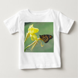 Monarch butterfly on yellow flower simple back baby T-Shirt