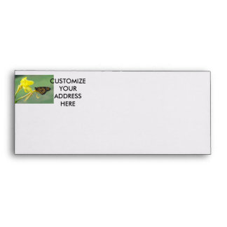 Monarch butterfly on yellow flower simple back envelope
