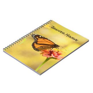 Monarch Butterfly on Zinnia Notebook