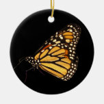 Monarch Butterfly Double-Sided Ceramic Round Christmas Ornament
