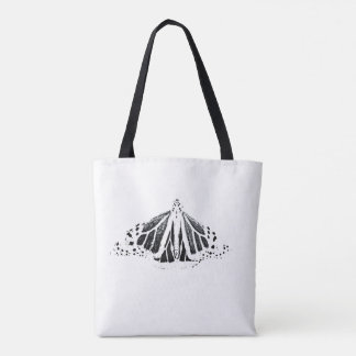 Monarch  butterfly outline tote bag