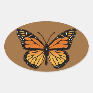 Monarch Butterfly Oval Sticker