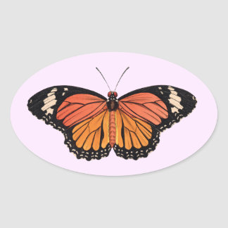 Monarch Butterfly Oval Stickers