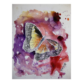 monarch_butterfly_painting poster