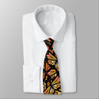 MONARCH BUTTERFLY PATTERN by Slipperywindow Neck Tie