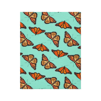 Monarch Butterfly Pattern Canvas Print