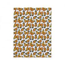 Monarch Butterfly Pattern Fleece Blanket