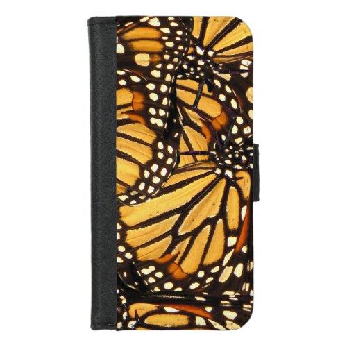 Monarch Butterfly Pattern iPhone 8/7 Wallet Case Phone Case