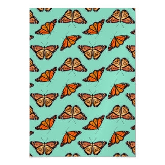 Monarch Butterfly Pattern Magnetic Card