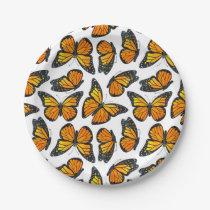 Monarch Butterfly Pattern Paper Plate