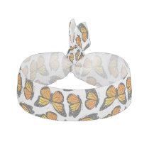 Monarch Butterfly Pattern Ribbon Hair Tie