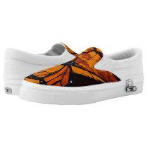 Monarch Butterfly Pattern Slip-On Sneakers