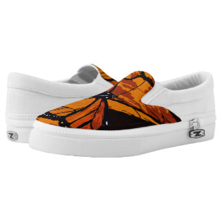 Monarch Butterfly Pattern Slip-On Sneakers