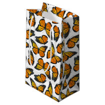 Monarch Butterfly Pattern Small Gift Bag