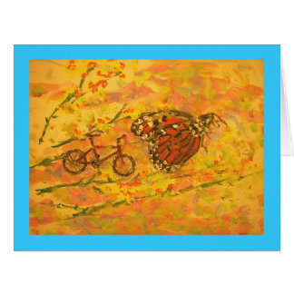Monarch Butterfly peace on earth Large Greeting Card