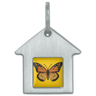 Monarch Butterfly Pet ID Tag