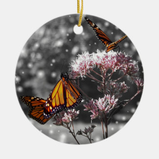Monarch Butterfly Photo Stunning ADD TEXT Ceramic Ornament