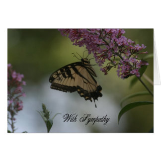 Monarch Butterfly Photo Sympathy Cad Card