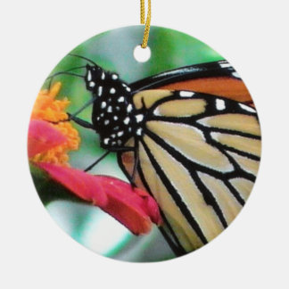 Monarch Butterfly Picture for Nature Lovers Ceramic Ornament