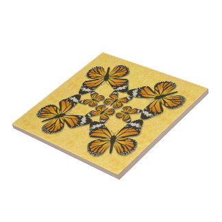 Monarch Butterfly Pin Wheel Tile