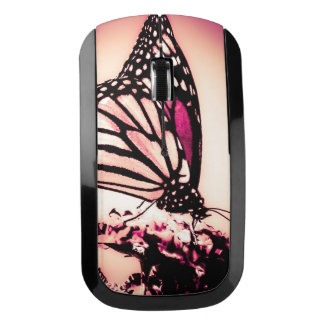Monarch Butterfly, Pink Wireless Mouse
