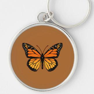 Monarch Butterfly Print Keychain