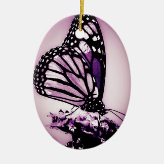 Monarch Butterfly, Purple - Ceramic Ornament