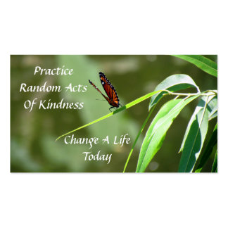 Monarch Butterfly  Random Acts of Kindness Card Double-Sided Standard Business Cards (Pack Of 100)