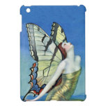 Monarch Butterfly Red Hair Vintage Fairy Cover For The iPad Mini