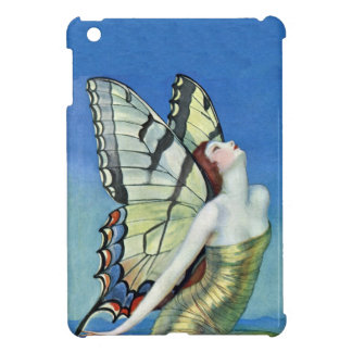 Monarch Butterfly Red Hair Vintage Fairy iPad Mini Cases