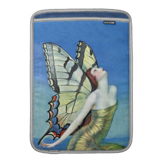 Monarch Butterfly Red Hair Vintage Fairy MacBook Sleeve