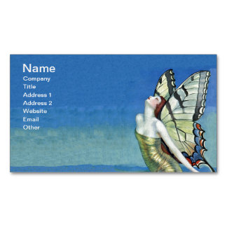 Monarch Butterfly Red Hair Vintage Fairy Magnetic Business Card