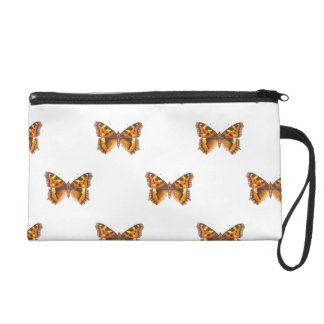 Monarch Butterfly Repeating Pattern Wristlet