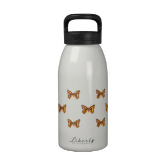 Monarch Butterfly Repeating Pattern Drinking Bottle