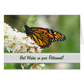 Monarch Butterfly Retirement Card by Elaine