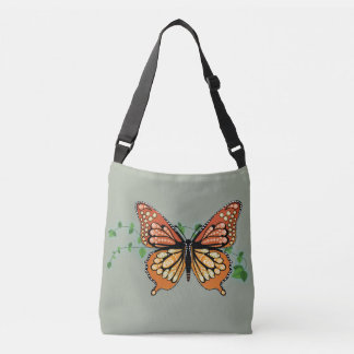 Monarch Butterfly Rhinestone Body Tote Bag