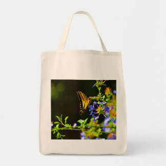 Monarch butterfly shopping bag