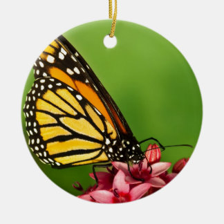 Monarch Butterfly  Side View Vibrant Photograph Double-Sided Ceramic Round Christmas Ornament