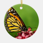 Monarch Butterfly  Side View Vibrant Photograph Christmas Ornament