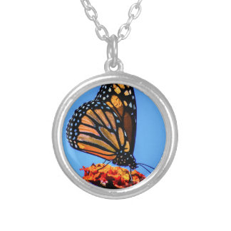 Monarch Butterfly - Silver Plated Necklace