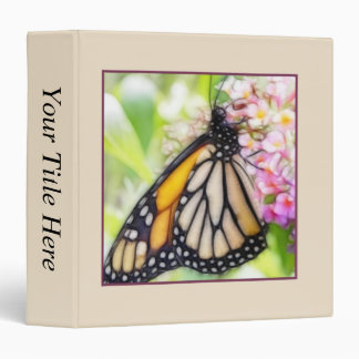 Monarch Butterfly Sipping Nectar 3 Ring Binder