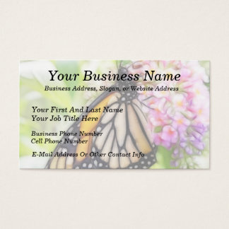Monarch Butterfly Sipping Nectar Business Card