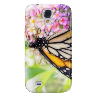 Monarch Butterfly Sipping Nectar Samsung Galaxy S4 Cases