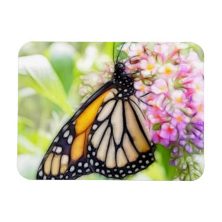 Monarch Butterfly Sipping Nectar Rectangular Photo Magnet